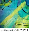 space abstraction, illustration, painting by oil on a canvas - stock photo