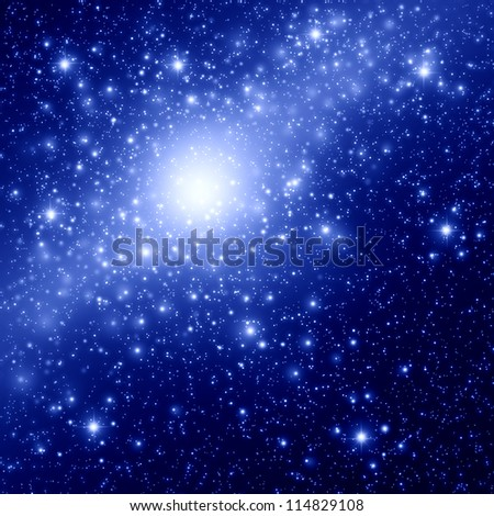 Space and star background - stock photo