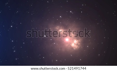 Space and Stars Background. Space travel