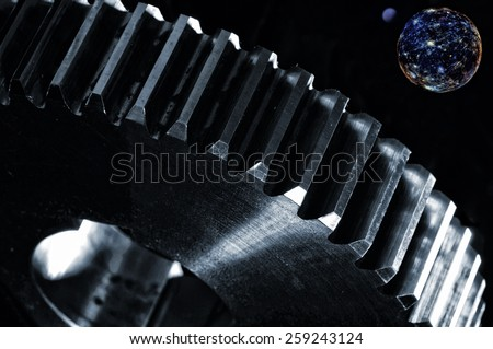 space and technology, planets and astronomy, surreal concept - stock photo