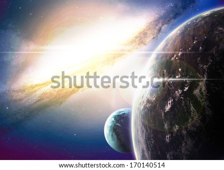 Space background. Elements of this image furnished by NASA - stock photo