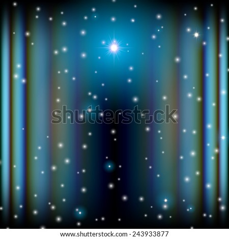 Space background with lightened corridor and aberrations