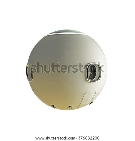 space capsule isolated on white background - stock photo
