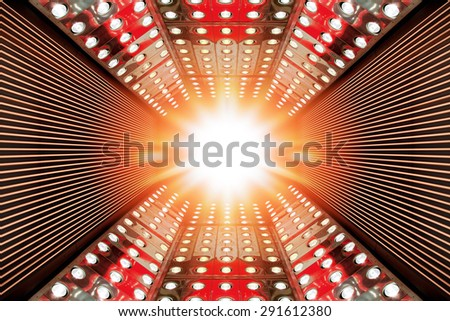 space decoration, studio prepared for production and shooting TV show  - stock photo