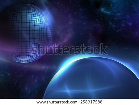 Space Disco Ball - stock photo