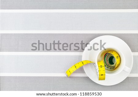 space for note diet - stock photo