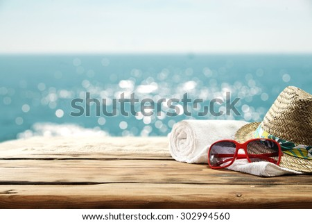 space for your suntan  - stock photo