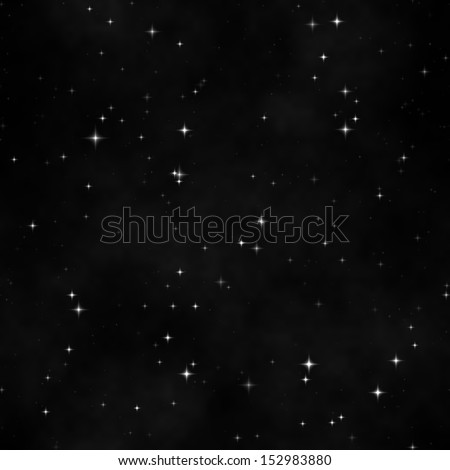 Space full of stars seamless texture, background, pattern - stock photo