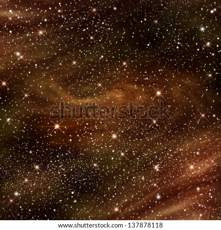 Space galaxy image with starry night ,illustration - stock photo