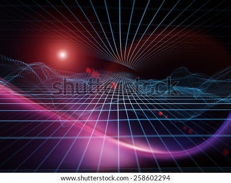 Space Geometry series. Backdrop of Math, geometry and design elements on the subject of science, technology and education - stock photo