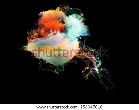Space Jellyfish series. Composition of fractal textures with fine strands suitable as a backdrop for the projects on design, imagination and fantasy - stock photo