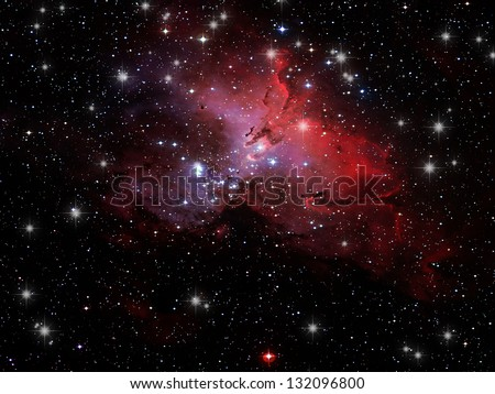 Space Nebula - stock photo