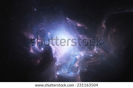 Space nebula - stock photo