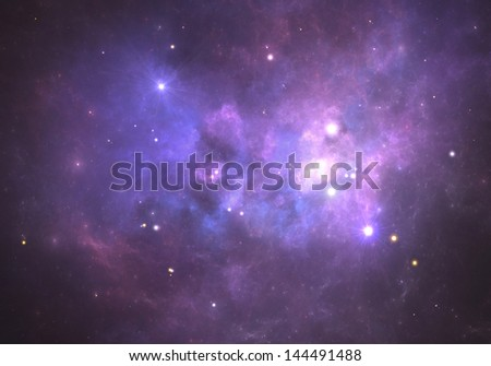 Space nebula.(All art elements made by me) - stock photo