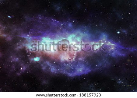 Space nebula - Elements of this image furnished by NASA - stock photo