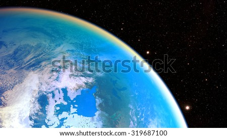Space planet Earth - Elements of this image furnished by NASA