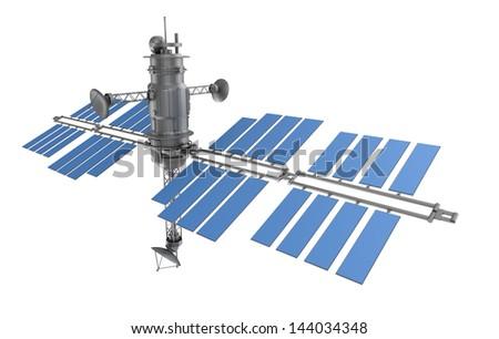 Space satellite isolated - stock photo