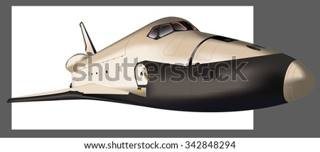Space shuttle  - stock photo