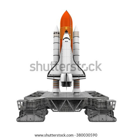 Space Shuttle and Mobile Launcher Platform - stock photo