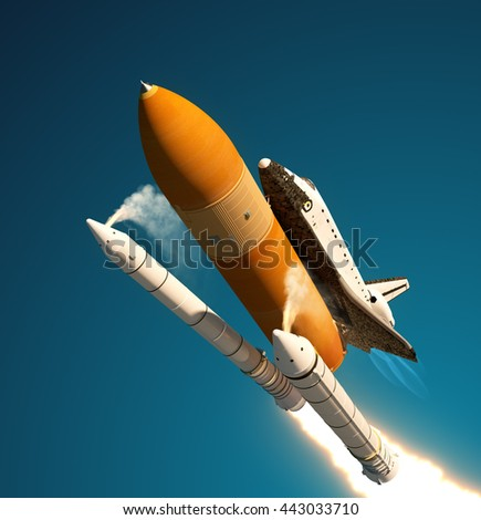 space shuttle launch booster separation - photo #9