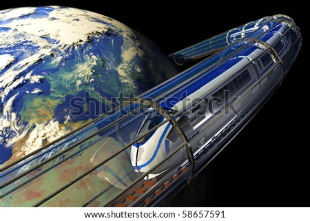 Space train - stock photo