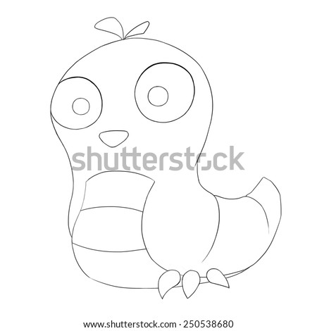 Space Warm Line Art - Creature Design - stock photo