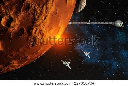 Spaceships - stock photo