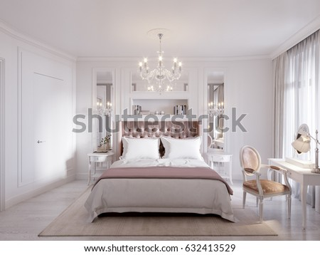 Spacious Bright Modern Contemporary Classic Bedroom Stock ...