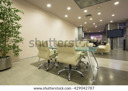 Spacious meeting room interior