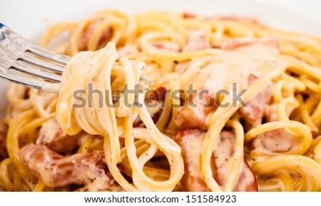 carbonara spaghetti alla carbonara typical spaghetti italy spaghetti ...