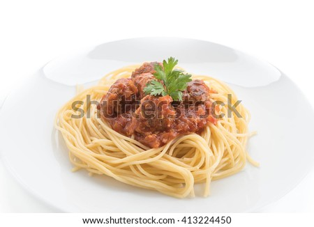 spaghetti and meatballs - italian food