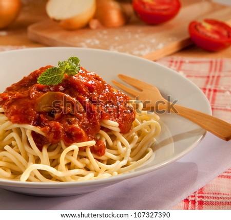 Spaghetti Bolognese - stock photo