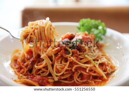 Spaghetti bolognese beef sauce