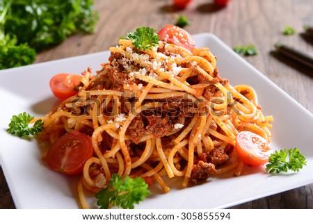 Spaghetti Bolognesei - stock photo
