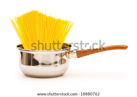 Spaghetti pot isolated on the white background