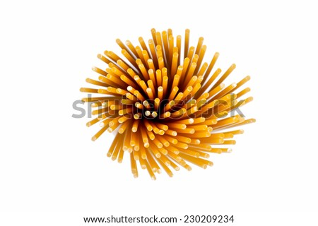 Spaghetti viewed from above,  - stock photo