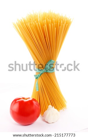 spaghetti with tomato and garlic