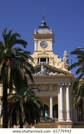 Spain Andalusia Malaga town hall entrance