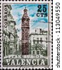 SPAIN - CIRCA 1978: A stamp printed in Spain ,shows image the Church of Santa Catalina,circa 1978. - stock photo