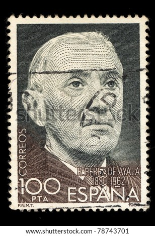 SPAIN - CIRCA 1980: A stamp printed in Spain shows Ramon Perez de Ayala (1880-1962), circa 1980