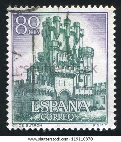 SPAIN - CIRCA 1966: stamp printed by Spain, shows Castle Butron, circa 1966