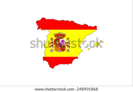 spain country flag map shape national symbol