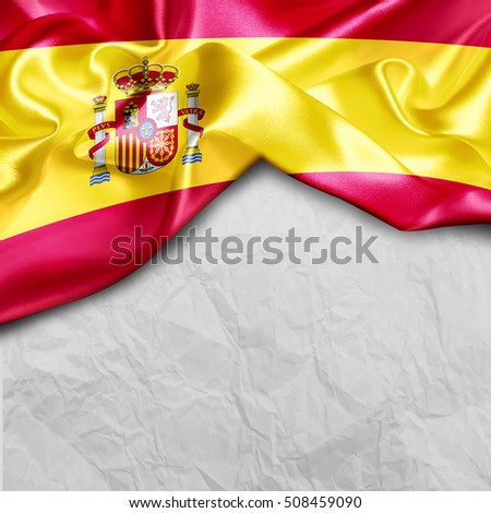 Spain Country Flag on paper background