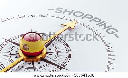 Spain High Resolution Shopping Concept - stock photo