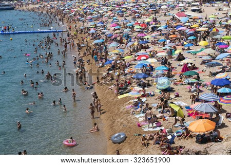 Spain July   Tossa Beach Is Famous Destination In Spain Located