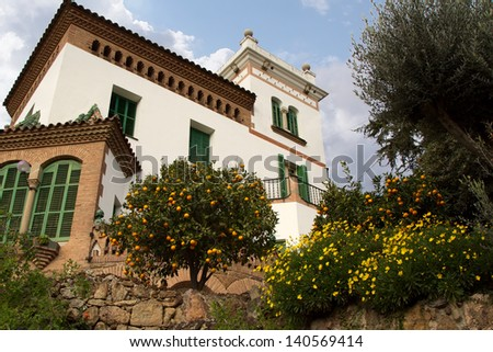 Spain Luxury Villa - stock photo