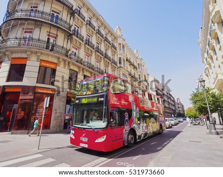 Spain, Madrid - July 18, 2014:  View of the city center.