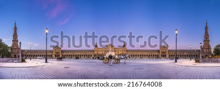 Spain Square in Seville, Andalusia, Spain. - stock photo