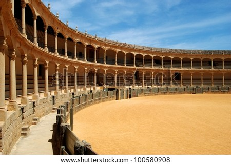 Spains oldest bullring built in 1785, Ronda, Malaga Province, Andalusia, Spain, Western Europe.
