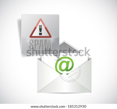 spam email illustration design over a white background - stock photo